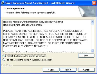 NetIQ Documentation: Novell Enhanced Smart Card Method