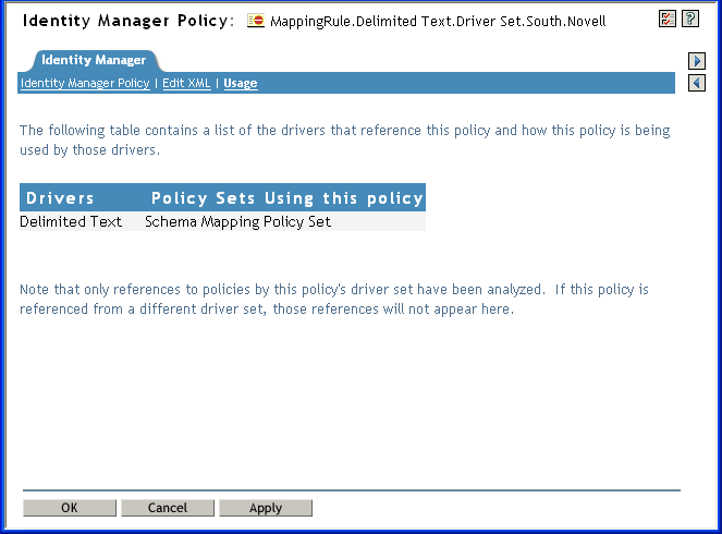 Editing the Schema Mapping Policy - NetIQ Ideny Manager ... on xslt mapping, mental model mapping, schematic mapping, identity mapping, system mapping, content mapping, field mapping,