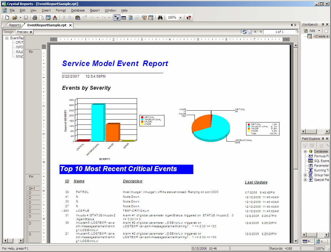 NetIQ Documentation: Operations Center 5.0 SQL Views Guide - Using Crystal Reports for Queries ...