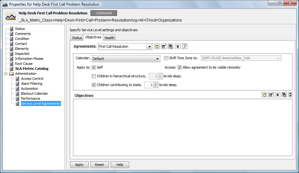 NetIQ Documentation: Operations Center 5 6 Service Level