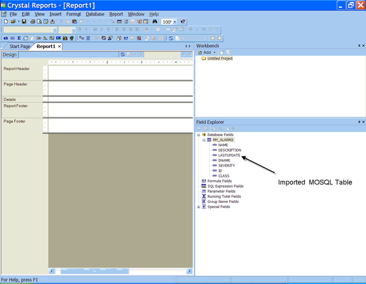 Using Crystal Reports for Queries and Reports - Operations