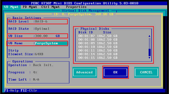 Configuring the RAID for Dell PowerEdge R730xd and Earlier Models