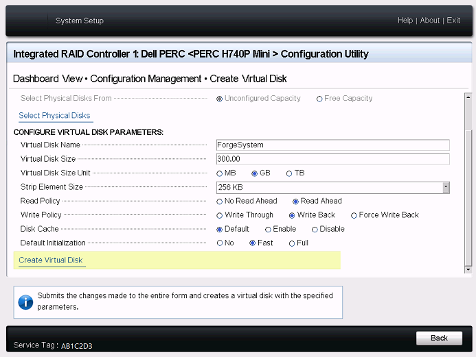 Configuring RAID 6 for Dell PowerEdge R740xd - PlateSpin