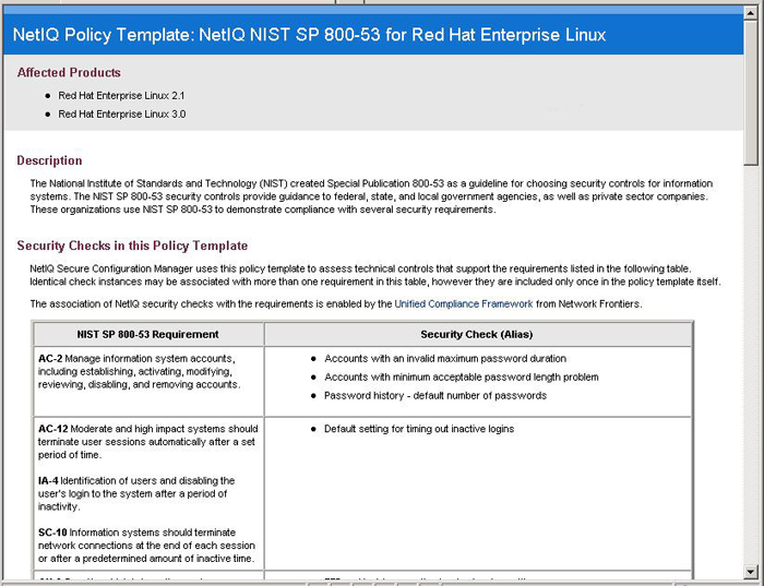 Features secure configuration manager netiq for Pci security policy template free